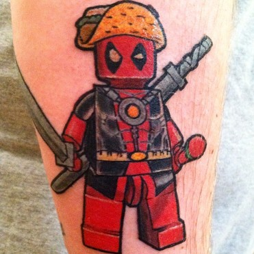 Lego Deadpool tattoo