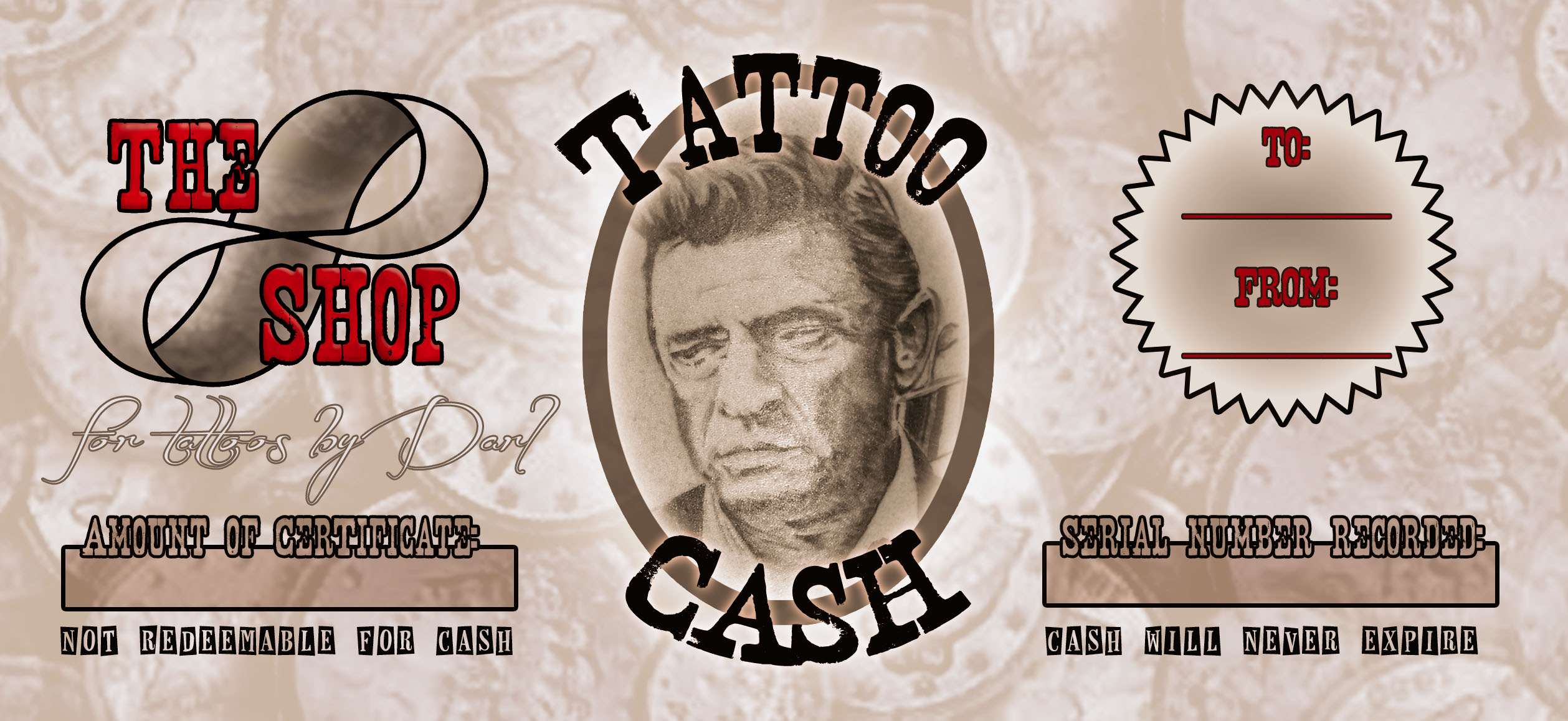 Gift certificates info the shop custom tattoos for Tattoo nightmares shop website